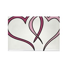 Hearts Outline Rectangle Magnet