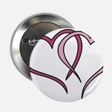 """Hearts Outline 2.25"""" Button"""