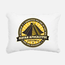 Mayan Apocalypse Rectangular Canvas Pillow
