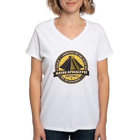 Mayan Apocalypse Women's V-Neck T-Shirt