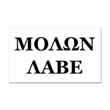 Molon Labe Rectangle Car Magnet