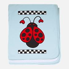 Ladybug Bug baby blanket
