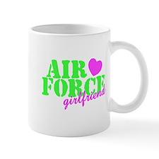 AF GF Lime Green Pink Heart Mug