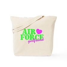 AF GF Lime Green Pink Heart Tote Bag