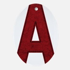 Scarlet Letter A Ornament (Oval)