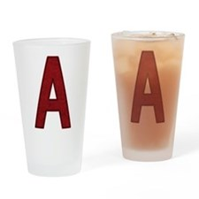 Scarlet Letter A Drinking Glass