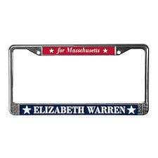 Warren for Massachusetts License Plate Frame