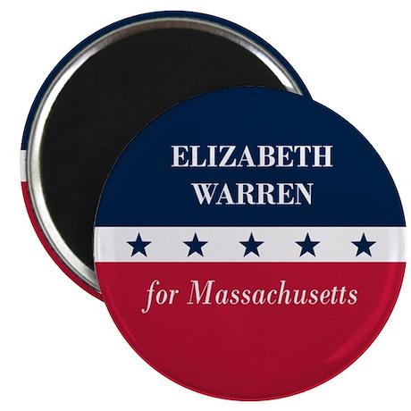 """Warren for Massachusetts 2.25"""" Magnet (10 pack)"""
