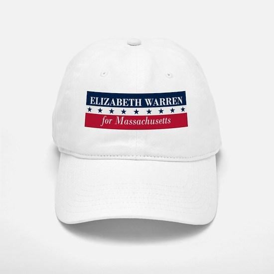 Warren for Massachusetts Baseball Baseball Cap