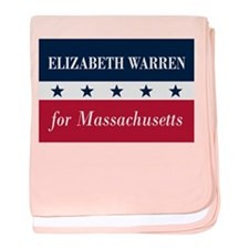Warren for Massachusetts baby blanket