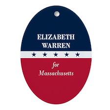 Warren for Massachusetts Ornament (Oval)
