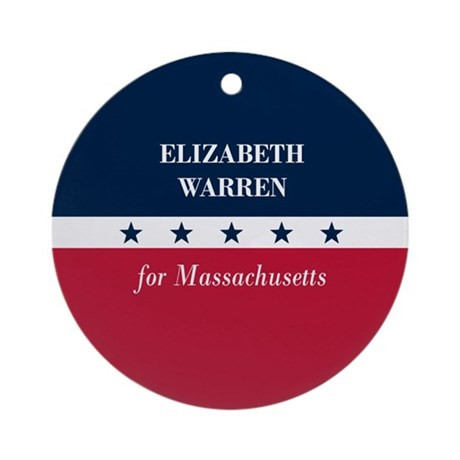 Warren for Massachusetts Ornament (Round)
