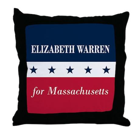 Warren for Massachusetts Throw Pillow