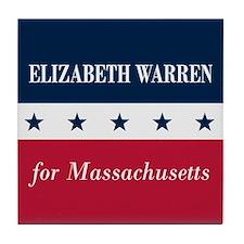 Warren for Massachusetts Tile Coaster