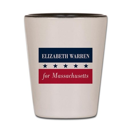Warren for Massachusetts Shot Glass
