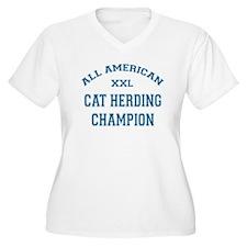 AA Cat Herding Champion Plus Size T-Shirt