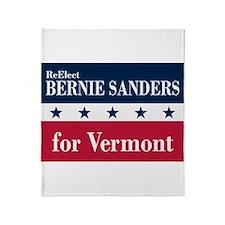 Bernie Sanders for Vermont Throw Blanket