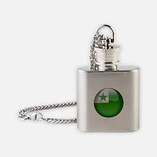 Esperanto Flag Jewel Flask Necklace