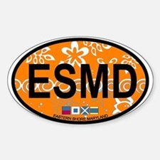 Eastern Shore MD - Oval Design. Decal