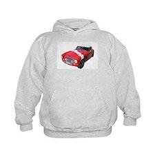 Little Red Austin Healy Car Hoodie