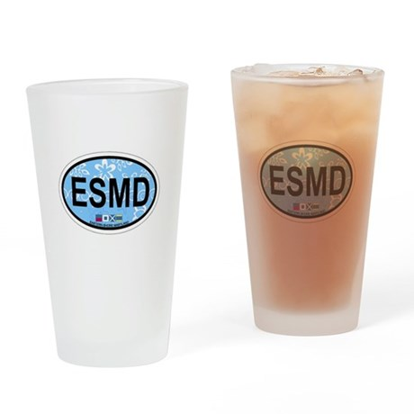 Eastern Shore MD - Oval Design. Drinking Glass