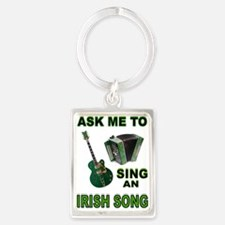 IRISH SONG Portrait Keychain