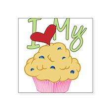 "Love Muffin Square Sticker 3"" x 3"""