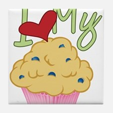 Love Muffin Tile Coaster
