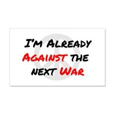 Already Against War Decal Wall Sticker