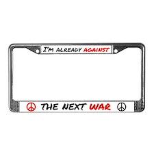 Already Against War License Plate Frame