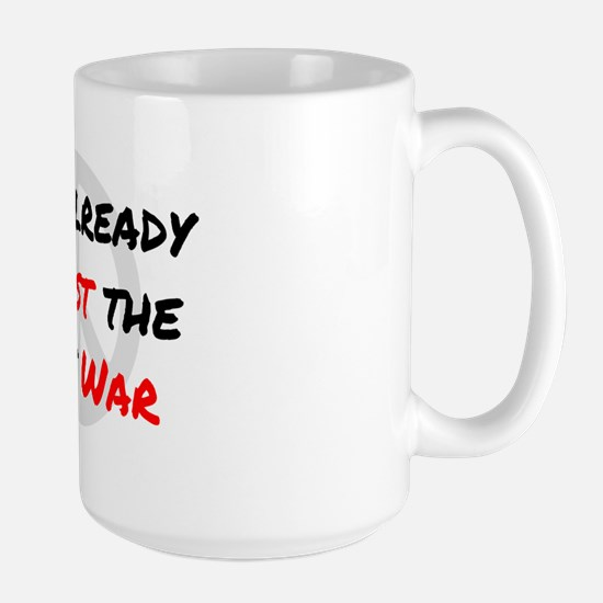 Already Against War Large Mug