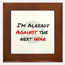 Already Against War Framed Tile