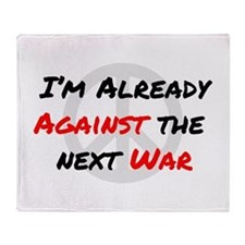 Already Against War Throw Blanket