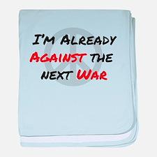 Already Against War baby blanket