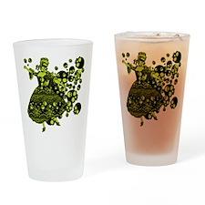 Green Skull Dancer Drinking Glass