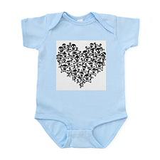 Green Skull Heart Infant Bodysuit