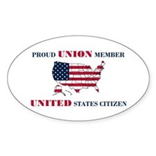 Proud Union Member US Citizen Decal