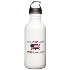 Proud Union Member US Citizen Water Bottle