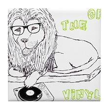 King Of The Vinyl Tile Coaster