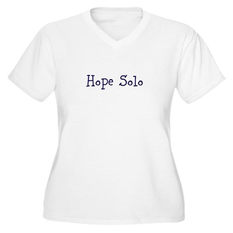 Hope Solo Women's Plus Size V-Neck T-Shirt