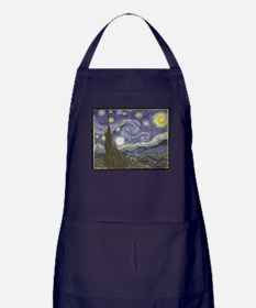 Van Gogh Starry Night Apron (dark)