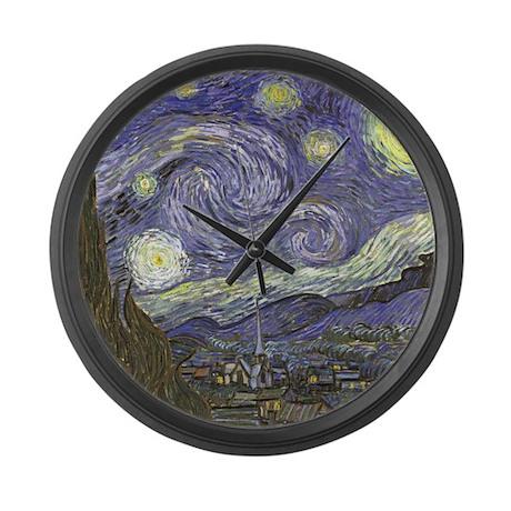 Van Gogh Starry Night Large Wall Clock