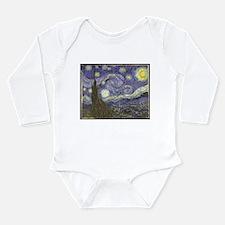 Van Gogh Starry Night Long Sleeve Infant Bodysuit
