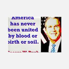 America Has Never - G W Bush Magnets