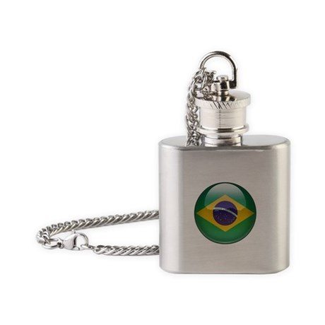 Brazil Flag Jewel Flask Necklace