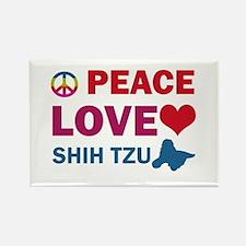 Peace Love Shih Tzu Rectangle Magnet