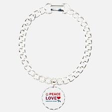 Peace Love Siberian Husky Bracelet