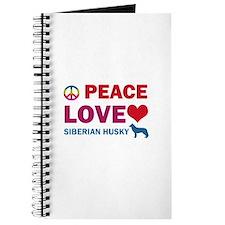 Peace Love Siberian Husky Journal