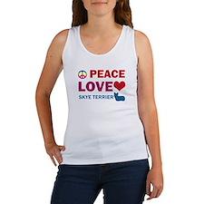 Peace Love Skye Terrier Women's Tank Top