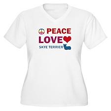 Peace Love Skye Terrier T-Shirt
